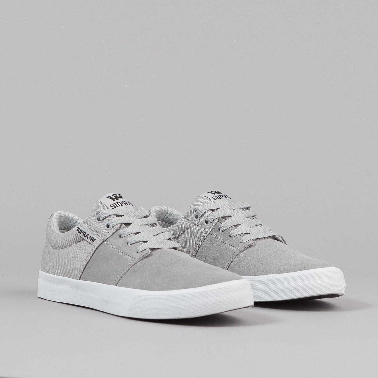 Supra Stacks Vulc II Shoes - Light Grey / White