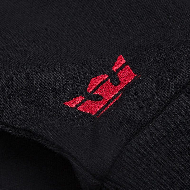 Supra Above Hooded Sweatshirt Black / White - Red