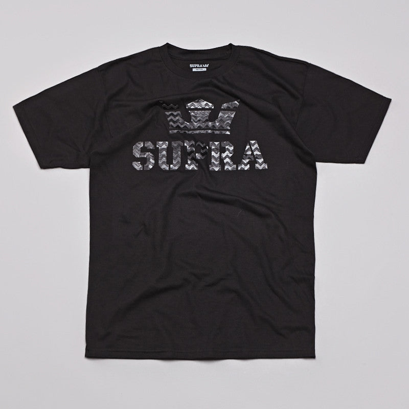 Supra Above T Shirt Black / Grey Chevron