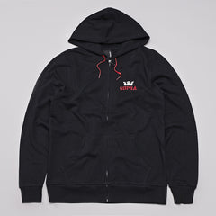 Supra Above Zipped Hooded Sweatshirt Black / Red - White