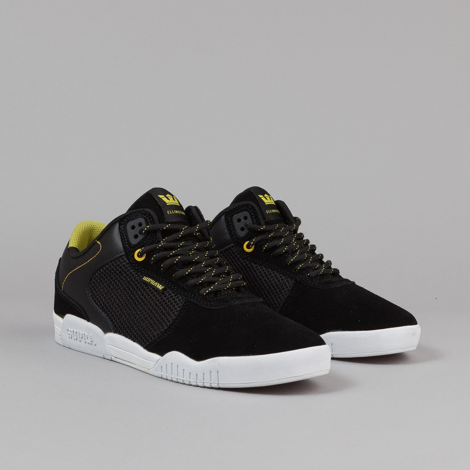Supra Ellington Shoes - Black / Neon / White