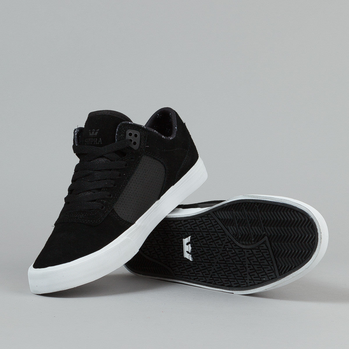 Supra Erik Ellington Vulc Shoes - Black - White