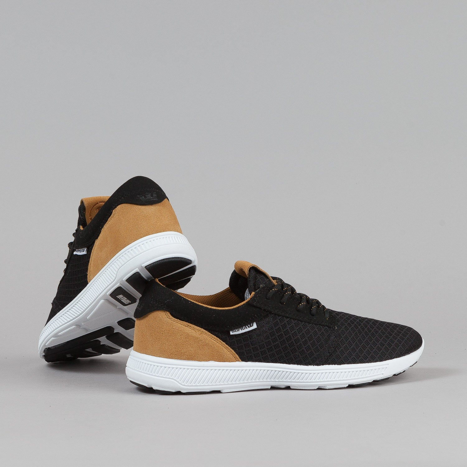 Supra Hammer Run Shoes - Black / Brown / White