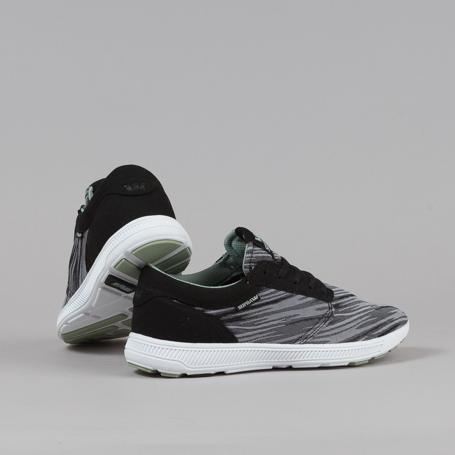 Supra Hammer Run Shoes - Black / Brushstroke / White