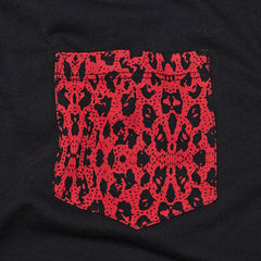 Supra Premium Pocket T Shirt Black / Red