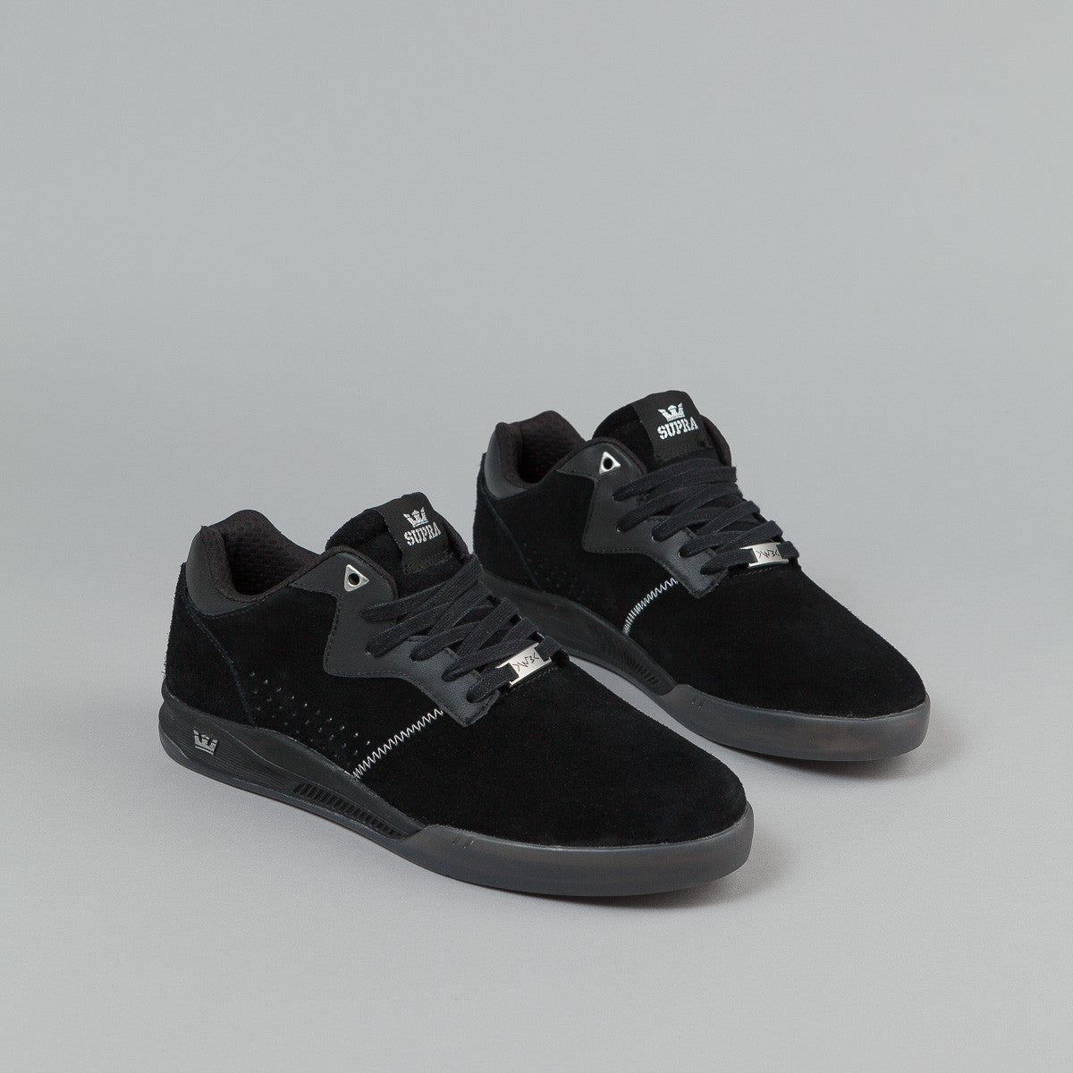 Supra Quattro Shoes (Lucien Clarke) - Black / Grey / Translucent