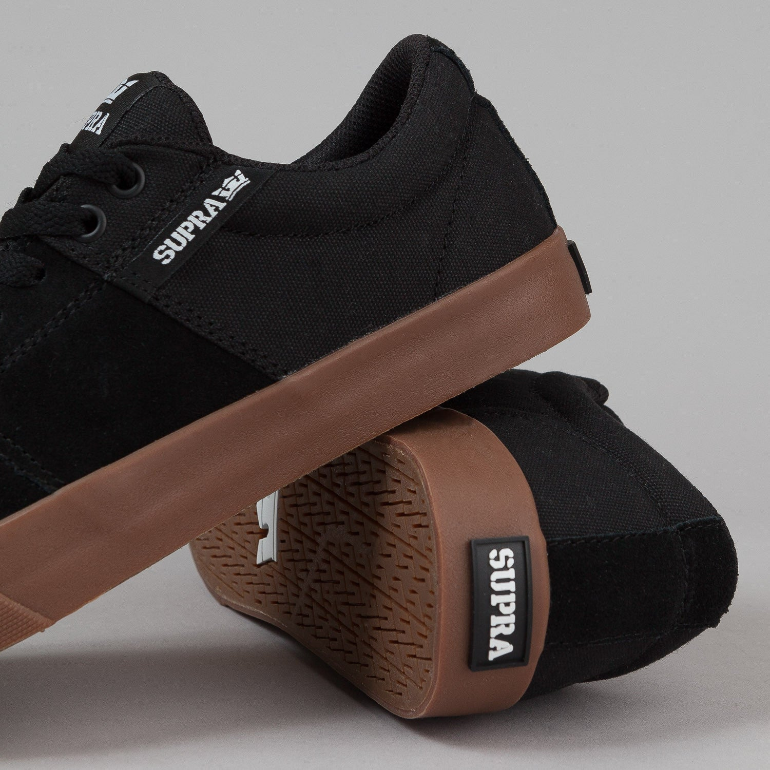 Supra Stacks Vulc II Shoes - Black / Gum