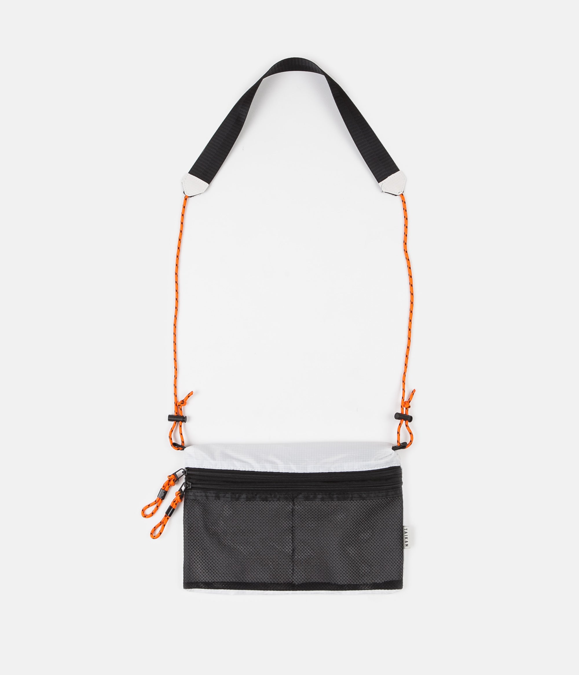 Taikan Everything Sacoche Bag - White / Black / Orange - Large