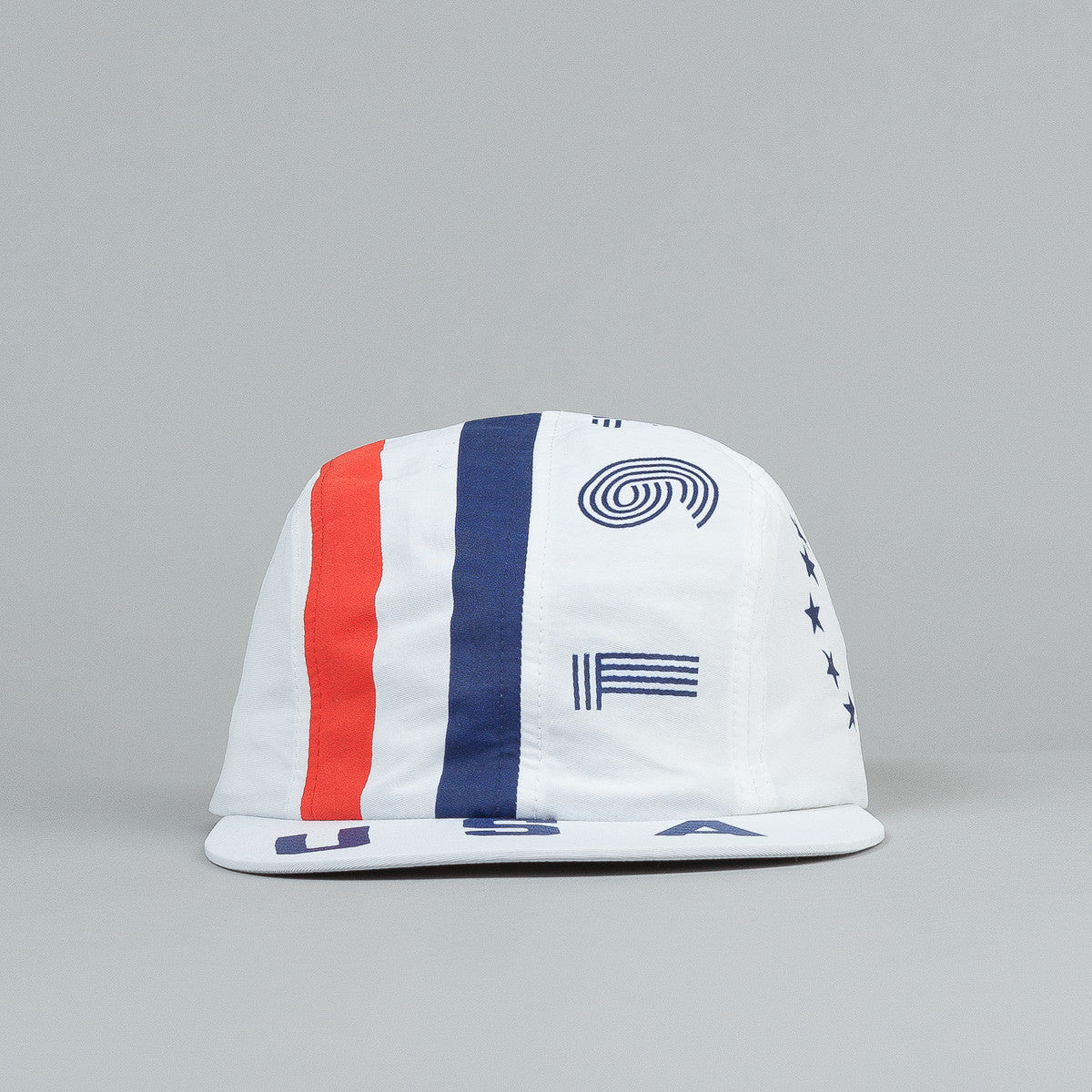 The Decades Bicentennial 4 Panel Cap - White