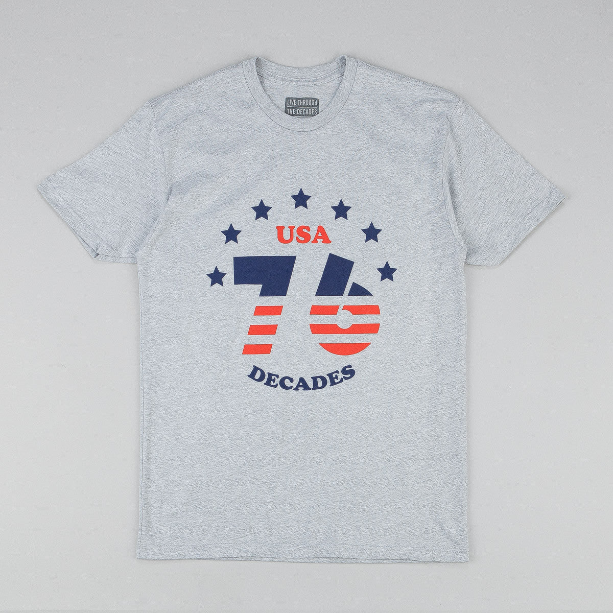 The Decades 'Bicentennial' T-Shirt - Heather Grey