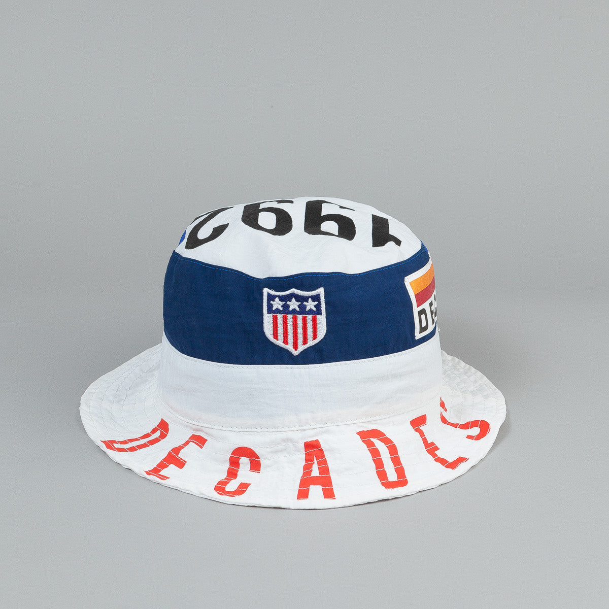 The Decades Summer Games Bucket Hat - White / Navy / Blue