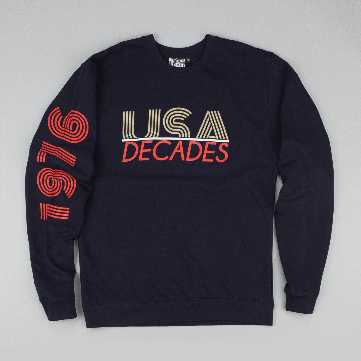 The Decades 'Team USA' Crew Neck Sweatshirt - Navy