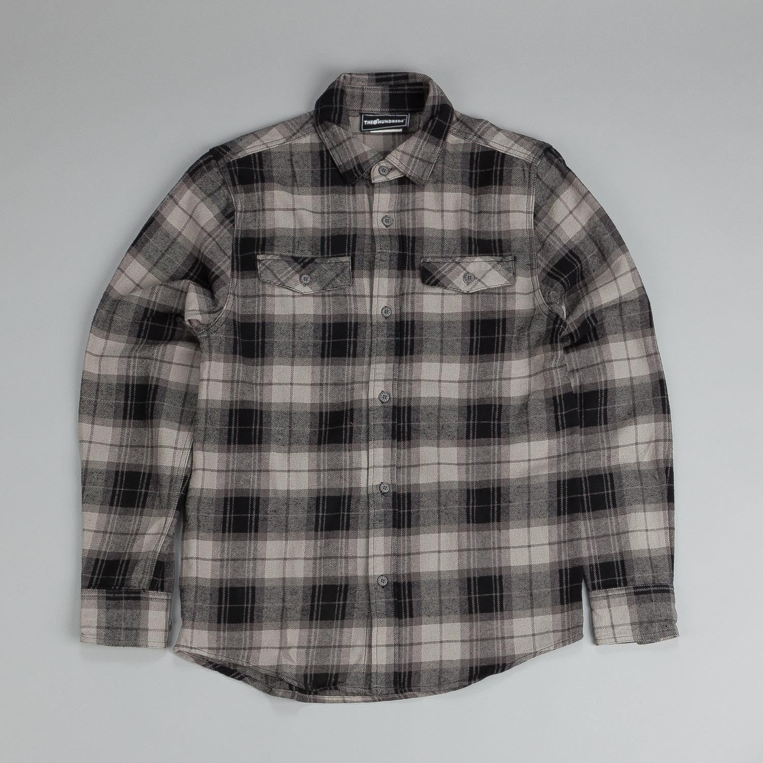 The Hundreds Conduct L/S Flannel Shirt Black