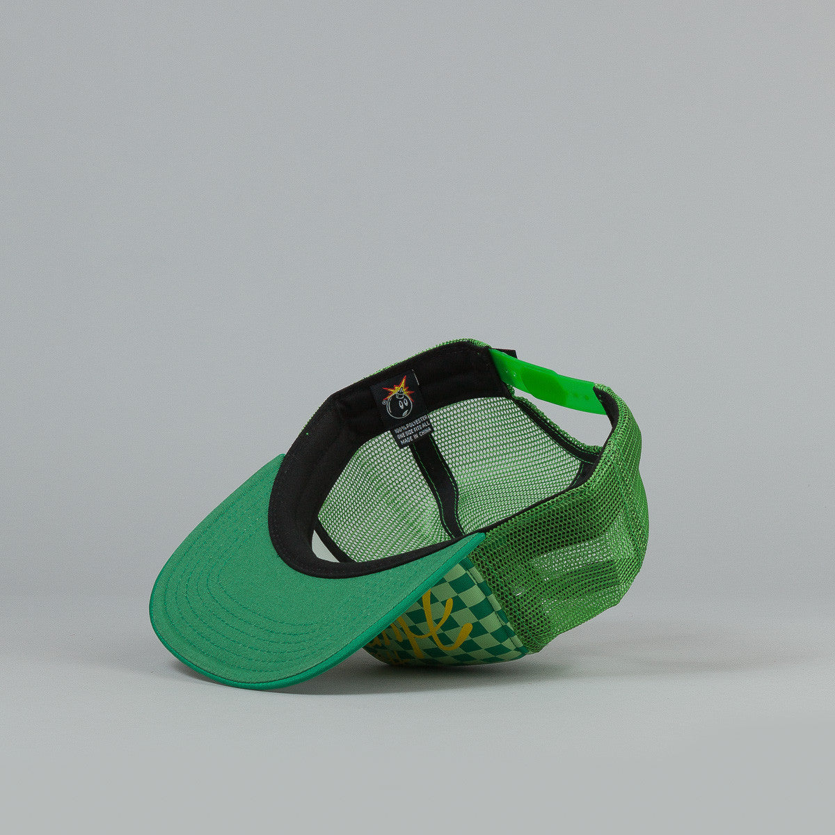 The Hundreds Crest Meshed Snapback Cap - Green