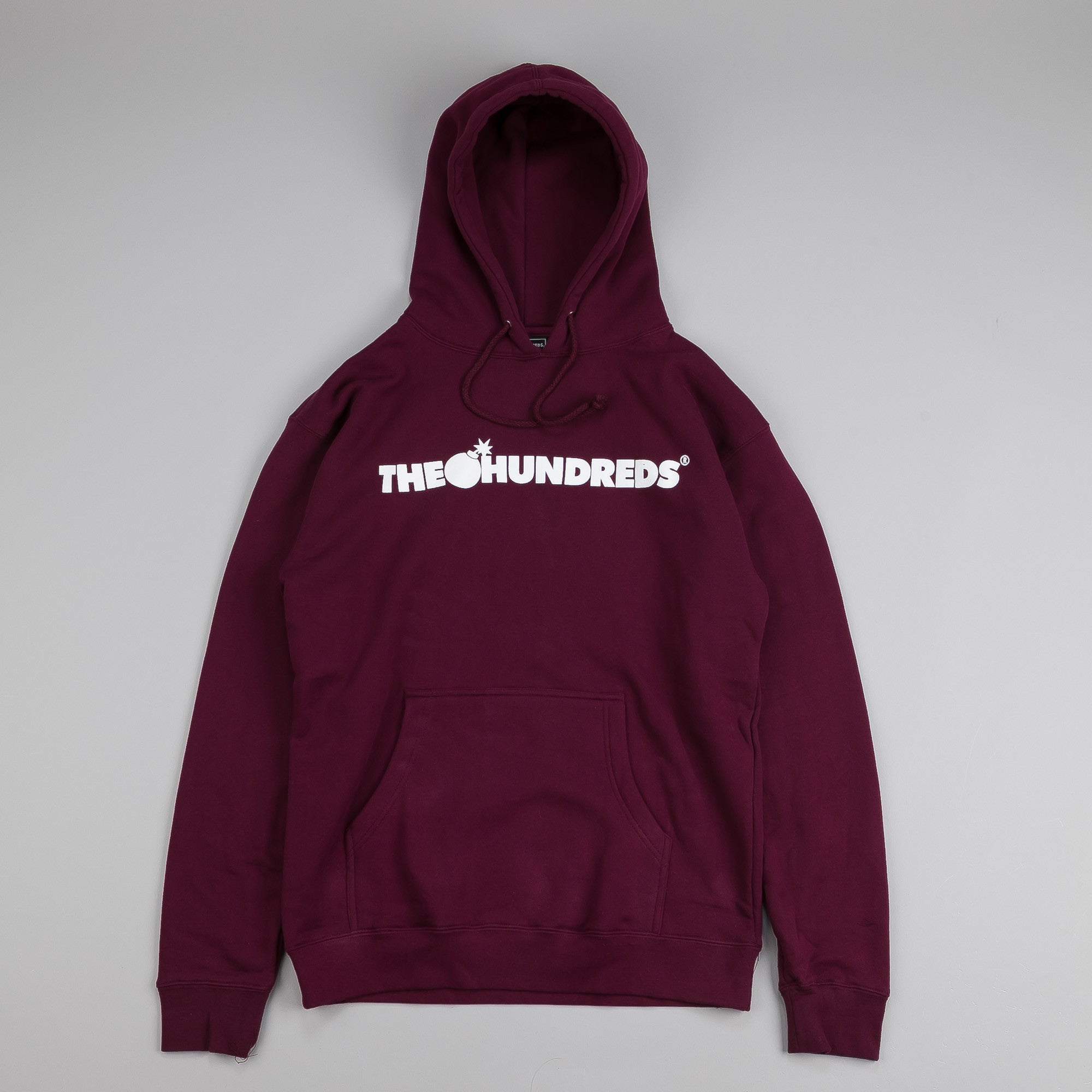 The Hundreds Forever Bar Pullover Hooded Top Burgundy