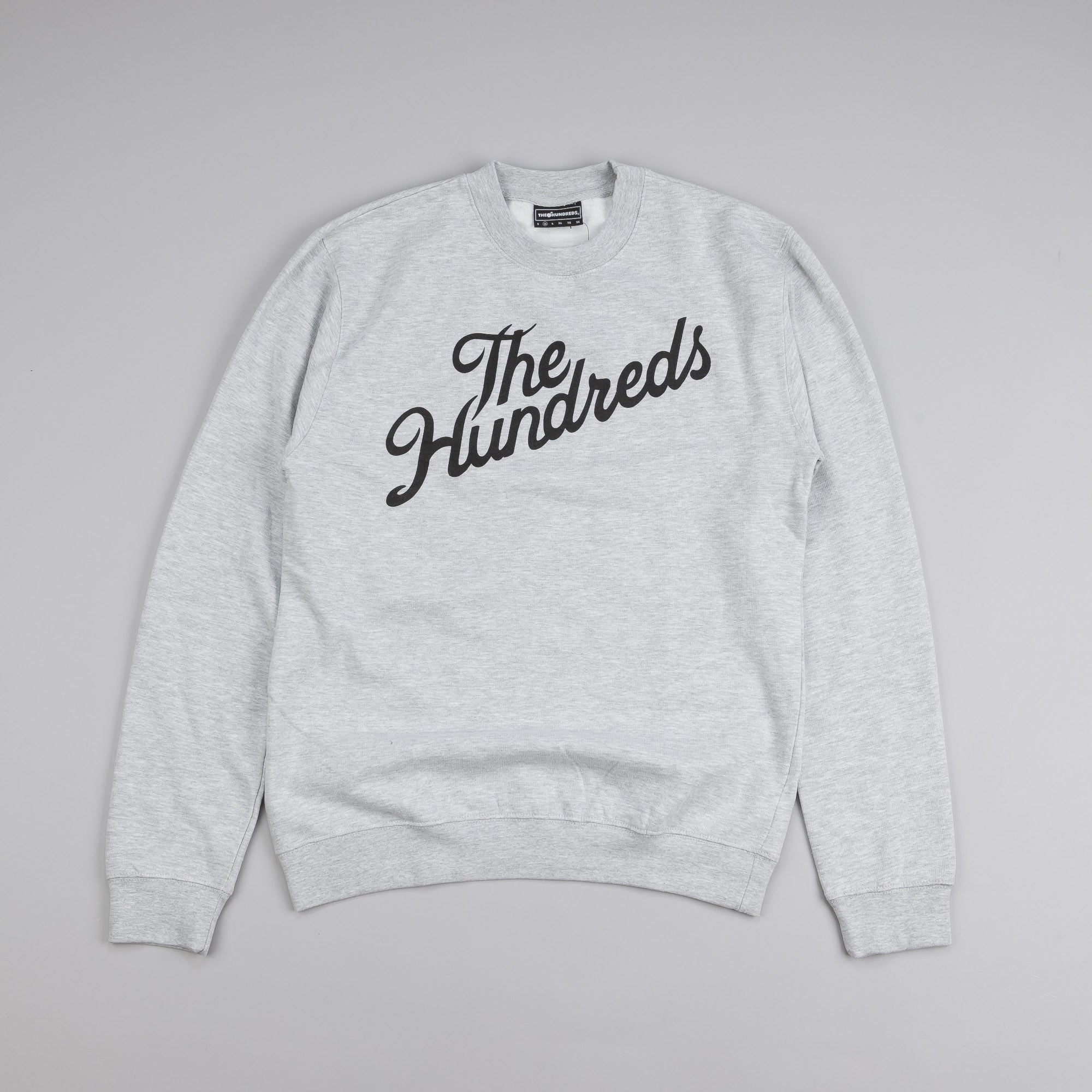 The Hundreds Forever Slant Crew Neck Sweatshirt Athletic Heather