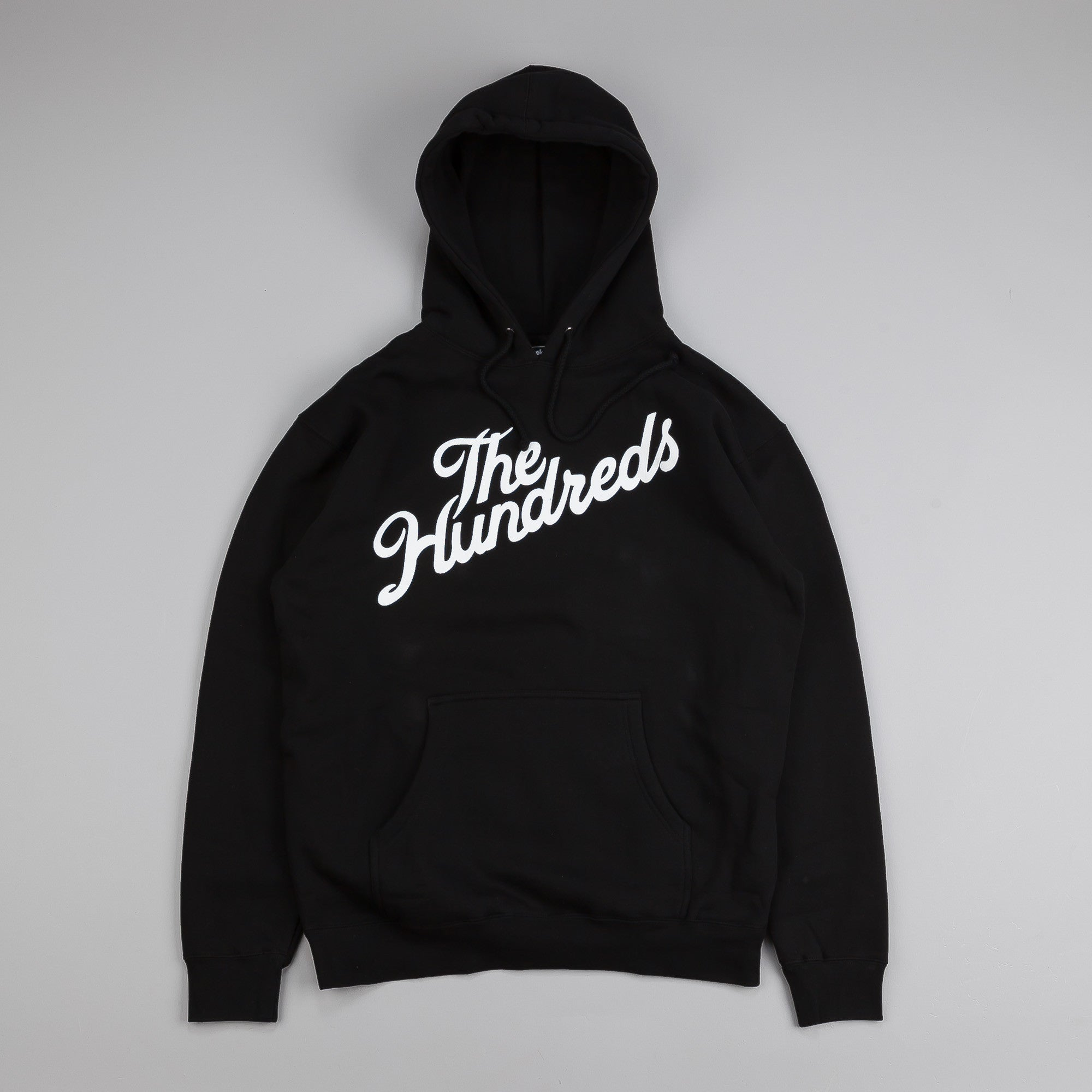 The Hundreds Forever Slant Pullover Hooded Top Black