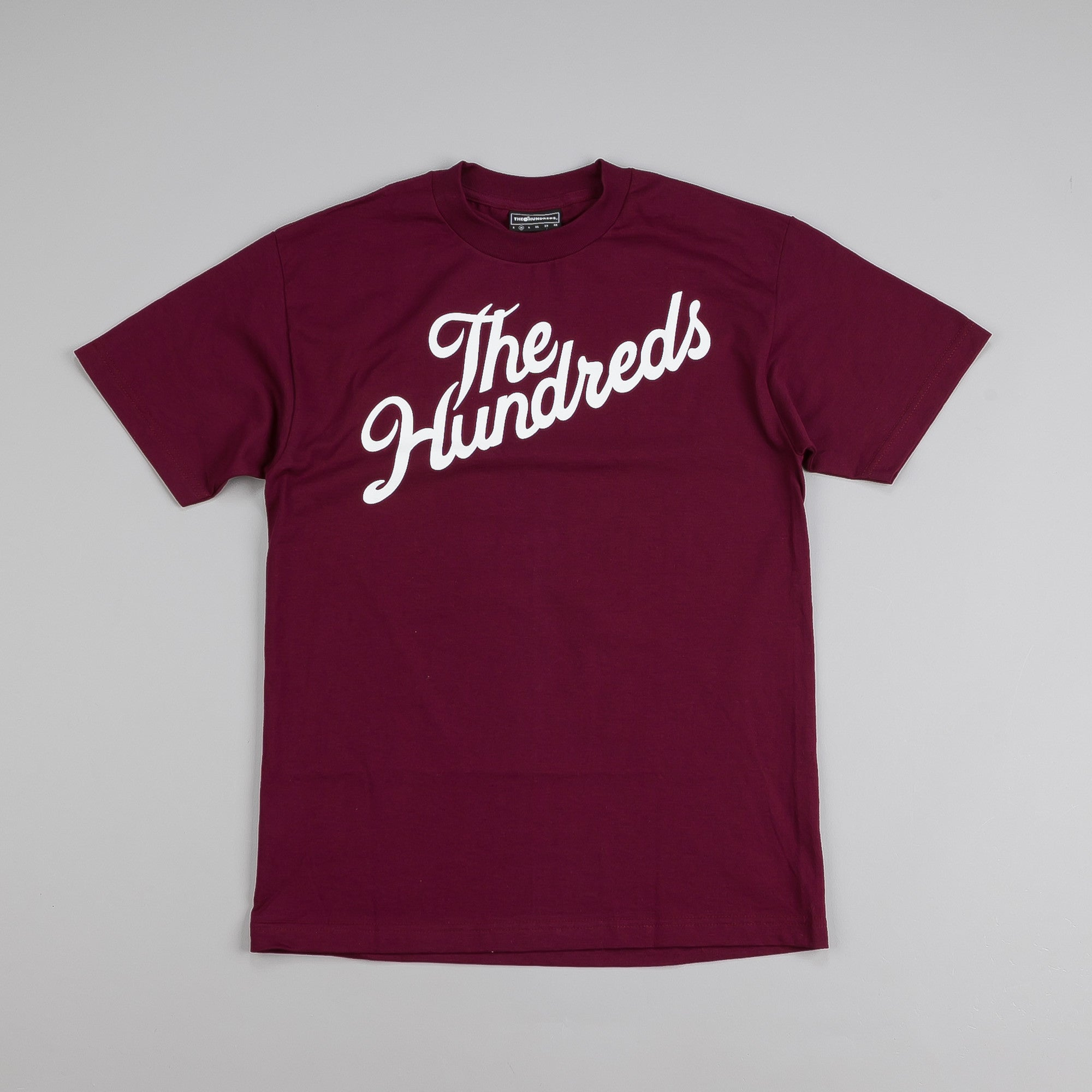The Hundreds Forever Slant T Shirt Burgundy