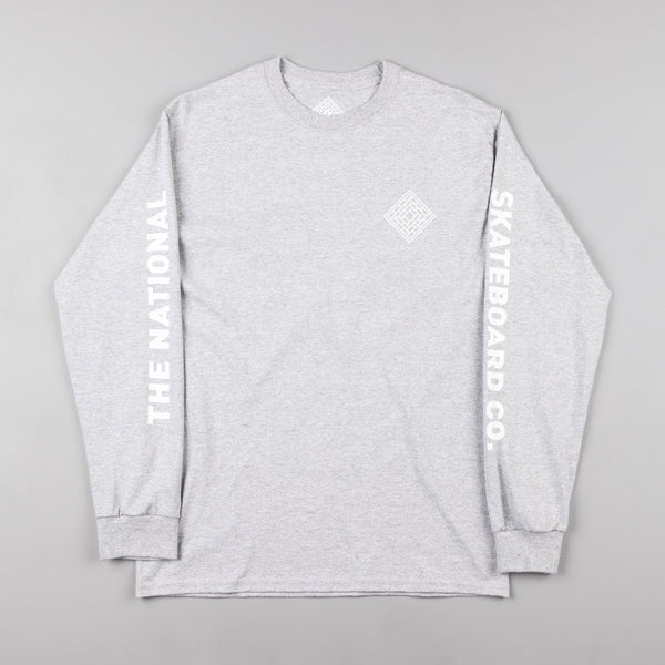 The National Skateboard Co Corp Long Sleeve T-Shirt - Heather Grey