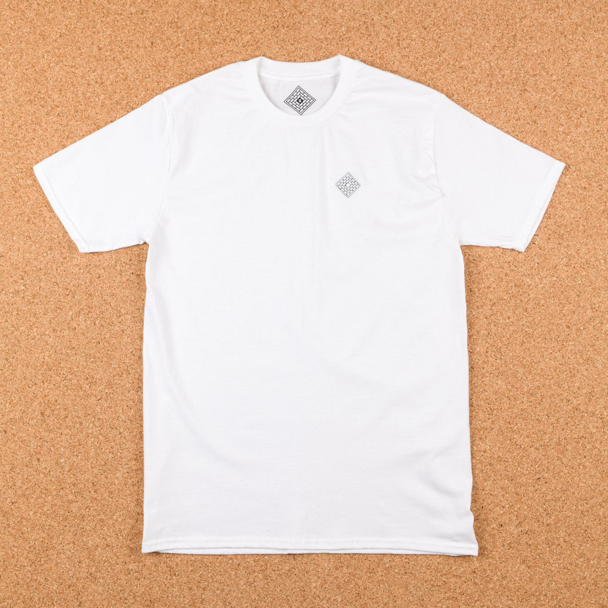 The National Skateboard Co Embroidered Logo T-Shirt - White