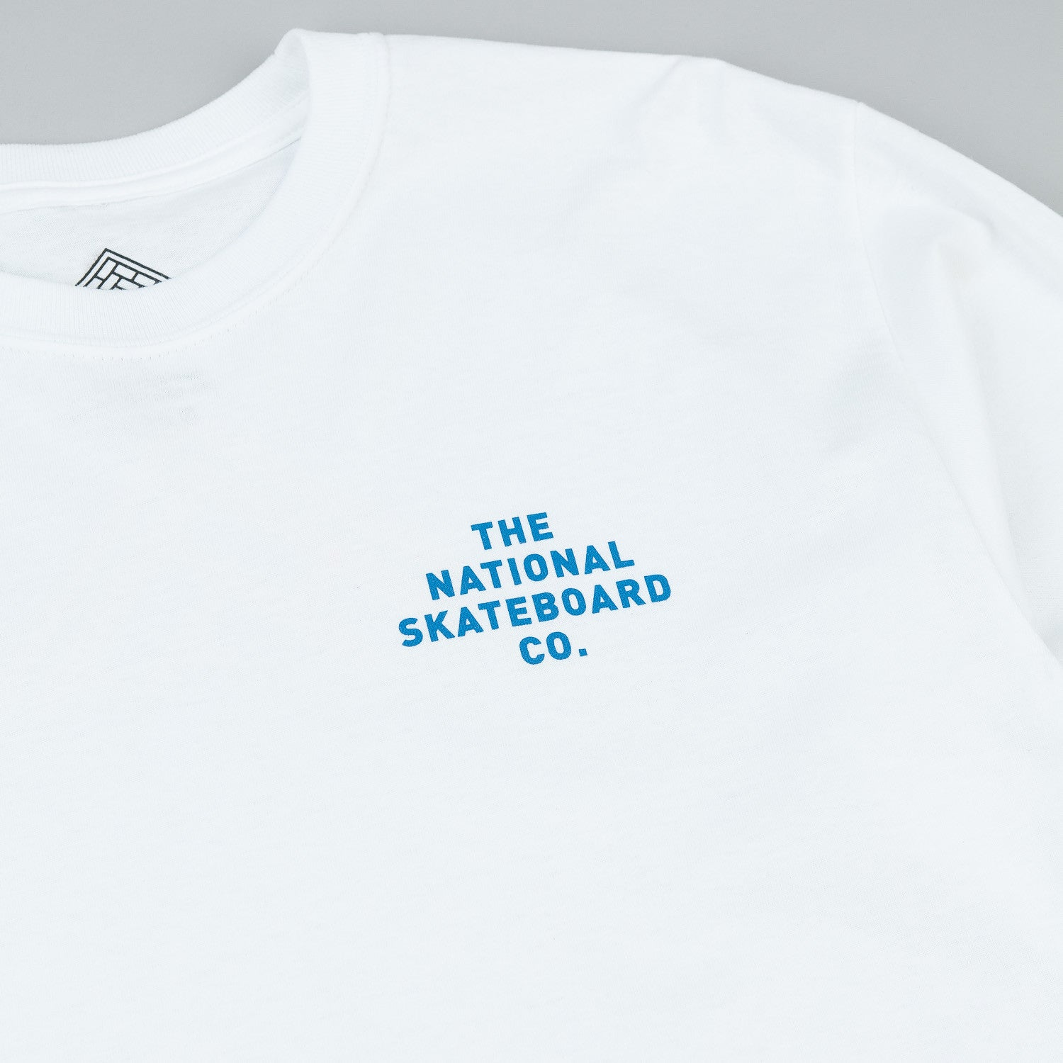 The National Skateboard Co Fade Long Sleeve T-Shirt - White