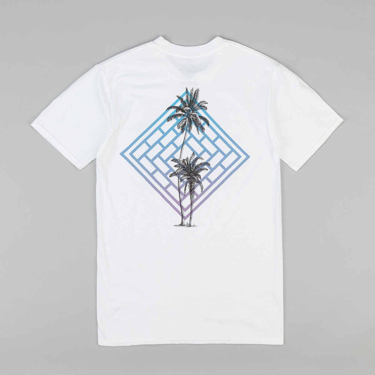 The National Skateboard Co Fade Palm T-Shirt - White