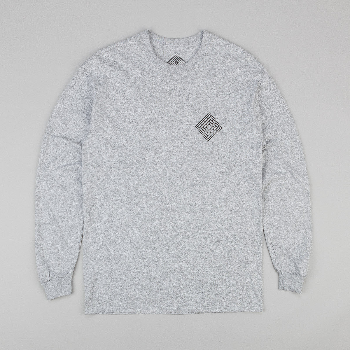 The National Skateboard Co Fade Rose Long Sleeve T-Shirt - Sport Grey
