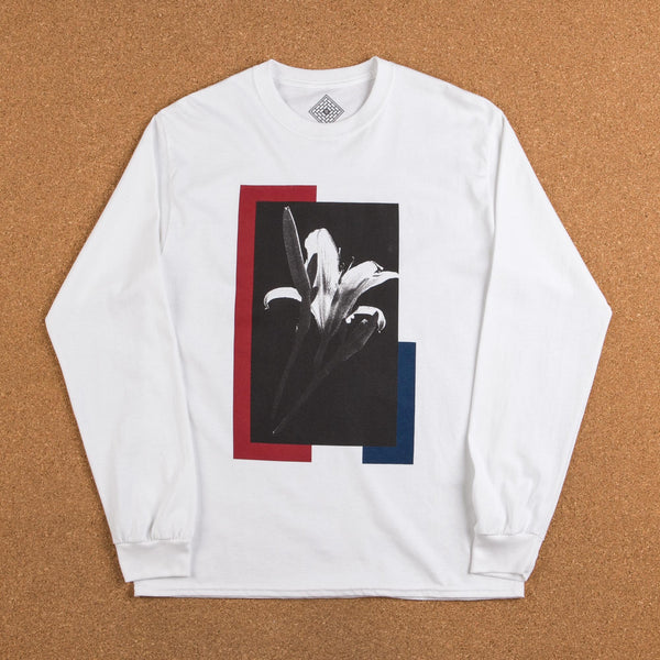 The National Skateboard Co Flower Long Sleeve T-Shirt - White