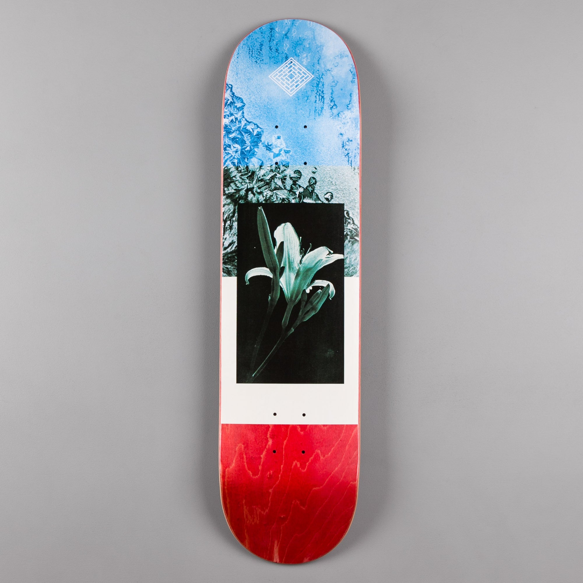 The National Skateboard Co Flower Mid Concave Deck - Red Stain - 8.0""