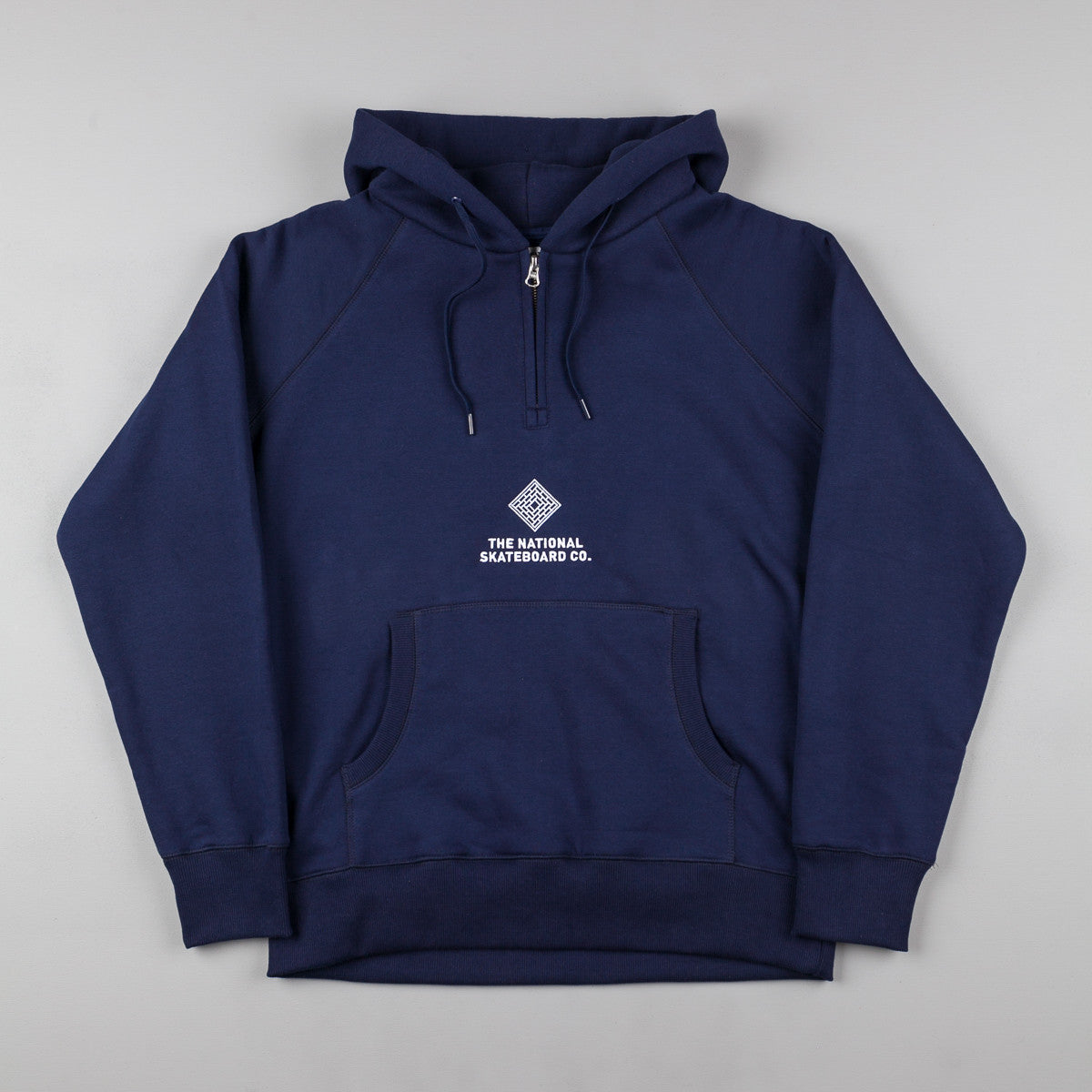 The National Skateboard Co Half-Zip Hooded Sweatshirt - Navy