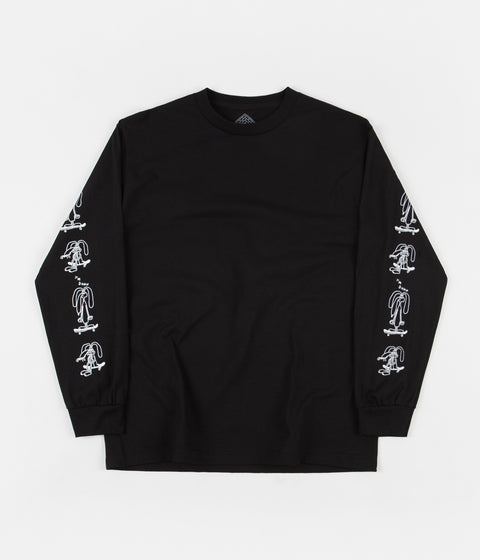 The National Skateboard Co I'm Down Long Sleeve T-Shirt - Black