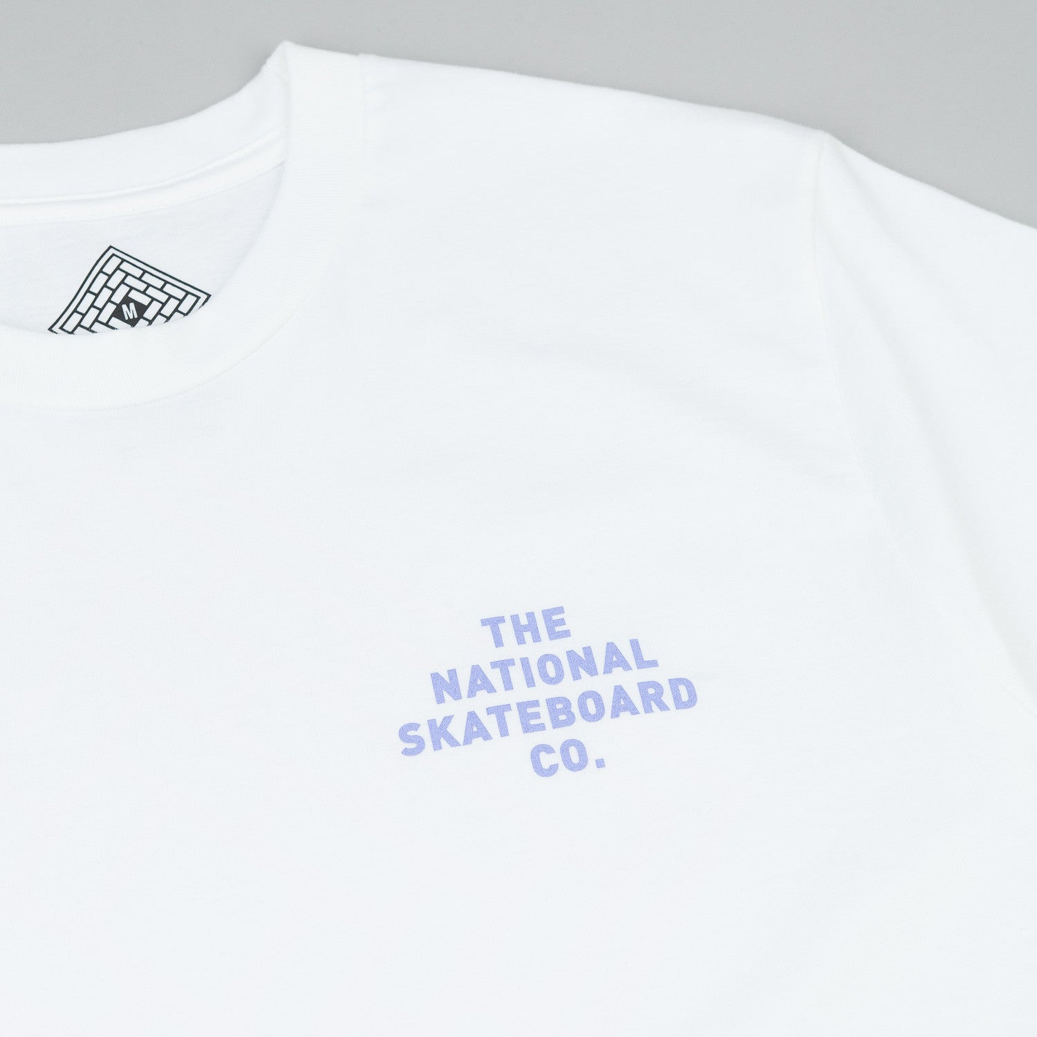 The National Skateboard Co Logo T-Shirt - White / Pink
