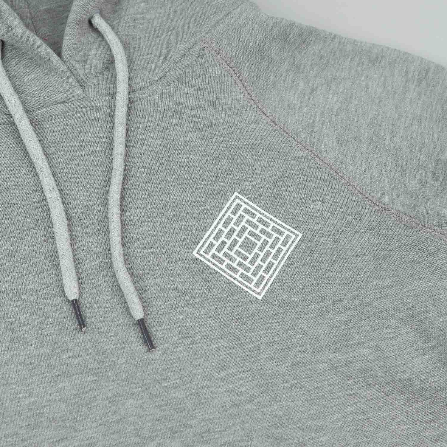 The National Skateboard Co Mono Logo Hooded Sweatshirt - Heather Grey