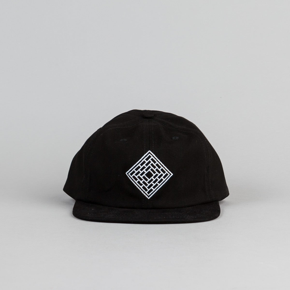 The National Skateboard Co Unstructured 6 Panel Cap - Black