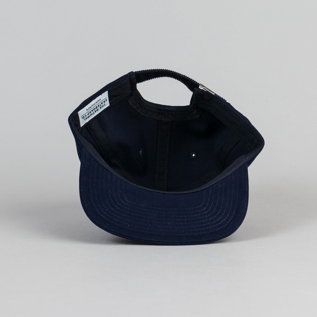 The National Skateboard Co Unstructured 6 Panel Cap - Navy
