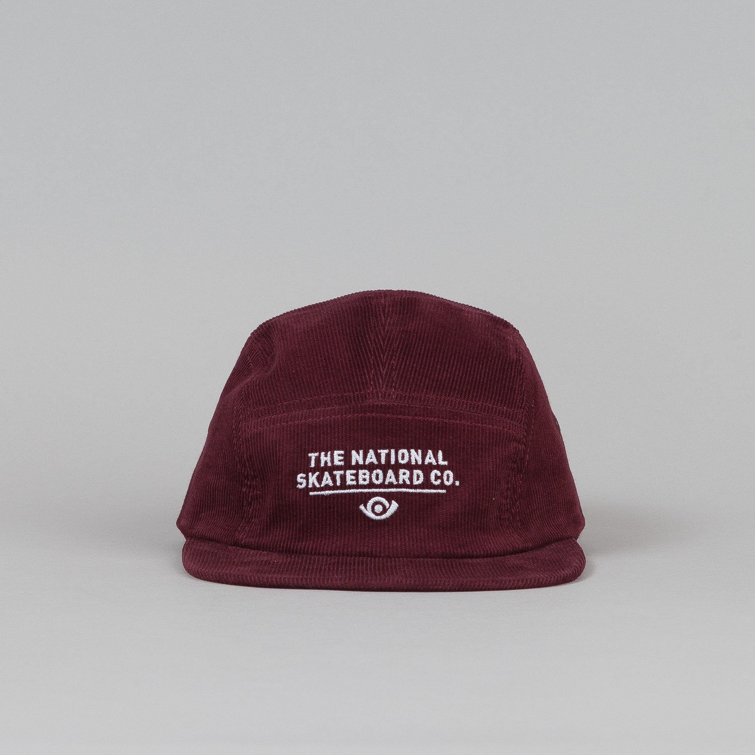 The National Skateboard Co X Post 5 Panel Cap Burgundy