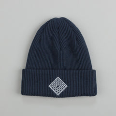 The National Skateboard Co X Post Beanie Navy