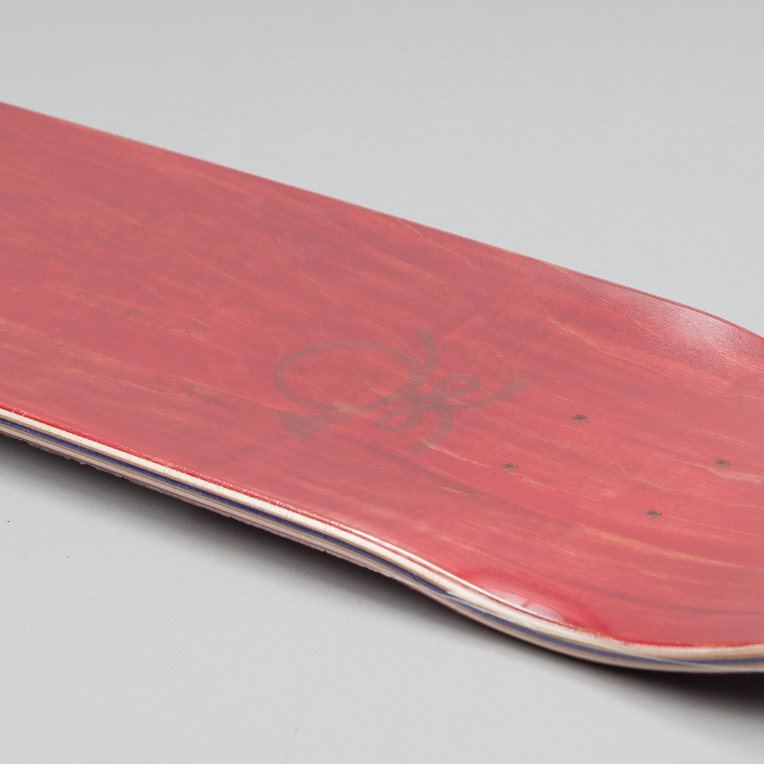 The National Skateboard Co X Post NS Deck Burgundy 8""