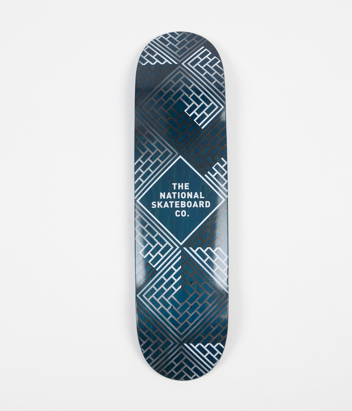 The National Skateboard Company Classic (High Concave) Deck  - Black Wash Blue Stain - 8.175""