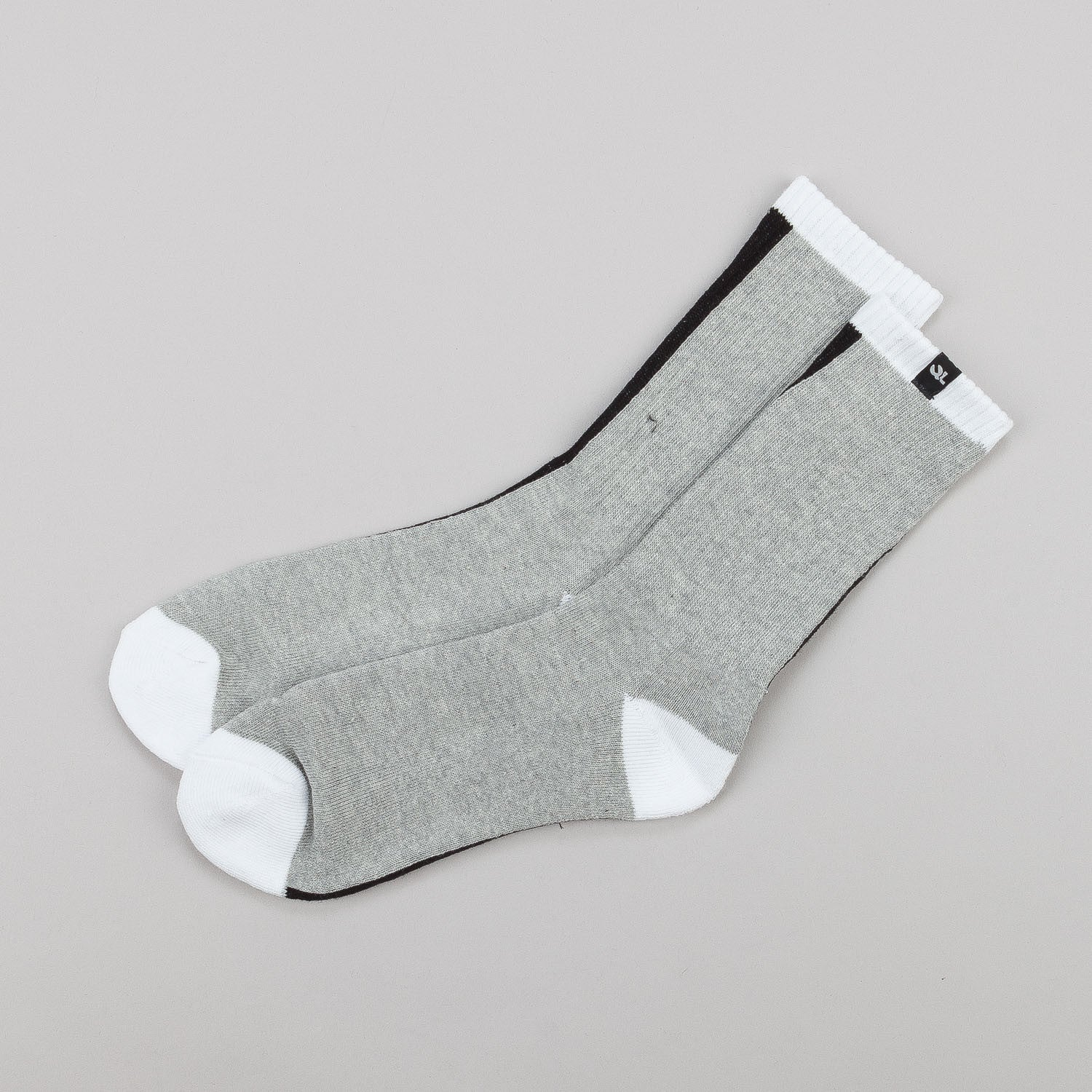 The Quiet Life 2 Faced Socks - Black / Heather Grey