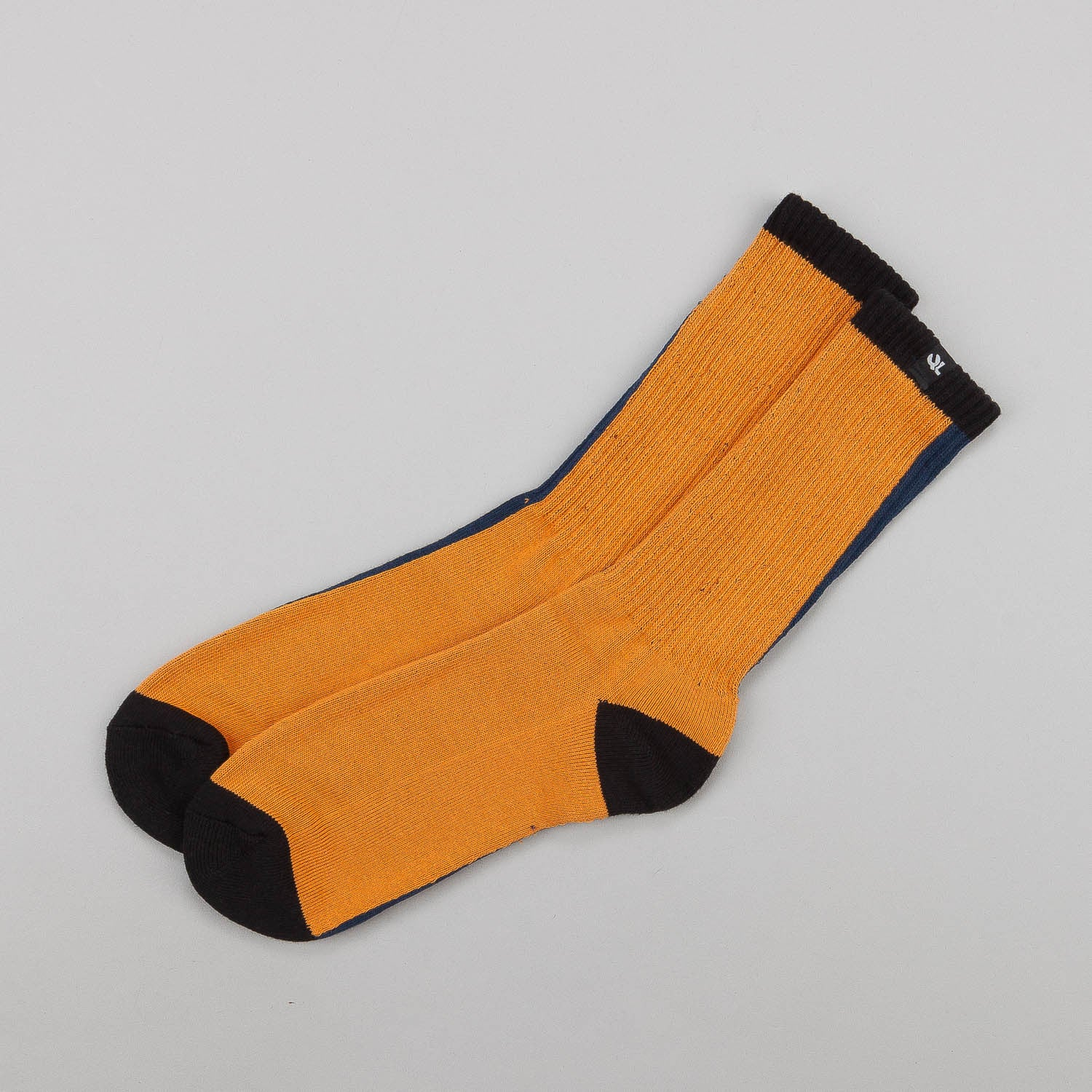 The Quiet Life 2 Faced Socks - Navy / Orange