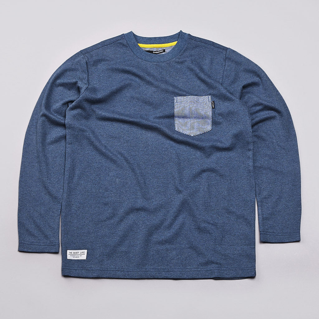 The Quiet Life Quiet Hampton L/S Pocket T Shirt Blue