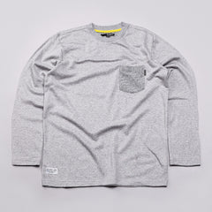The Quiet Life Quiet Hampton L/S Pocket T Shirt Grey