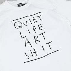 The Quiet Life Art Shit T-Shirt - White