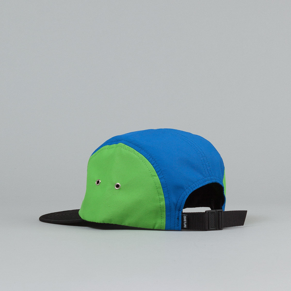 The Quiet Life Aruba 5 Panel Cap - Black Front / Green Sides