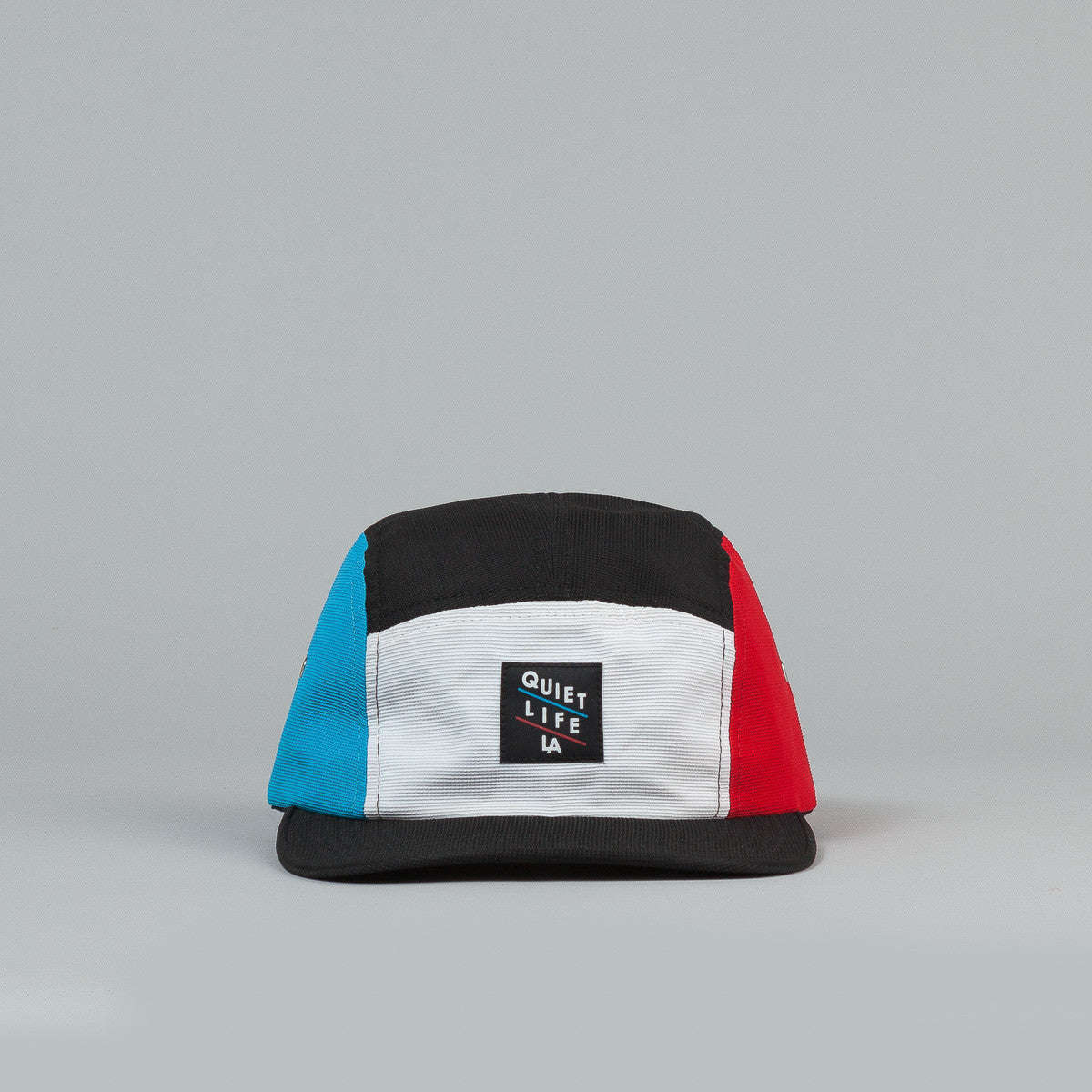 The Quiet Life Aruba 5 Panel Cap - White Front / Red & Blue Sides