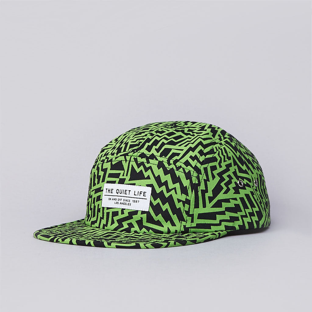 The Quiet Life Aztec 5 Panel Cap Lime