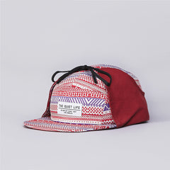The Quiet Life Aztec Hunter 5 Panel Cap Red / Purple / Red