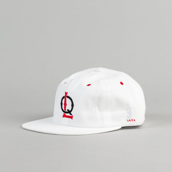 The Quiet Life Ball Park Polo Cap - White