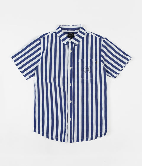 The Quiet Life Barnum Short Sleeve Button Down Shirt - Navy / White